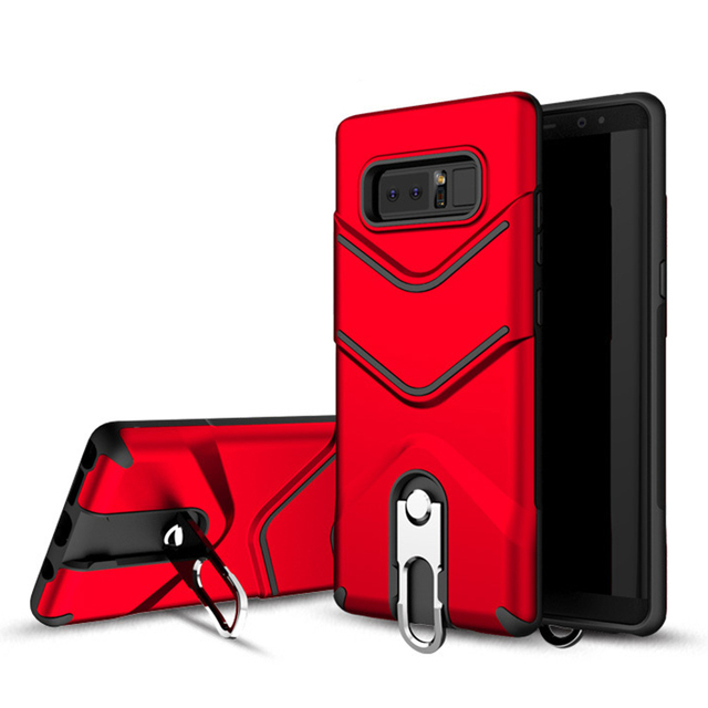 2018 new arrivals dual layer tpu pc shockproof 360 degree kickstand mobile phone case for samsung galaxy note 8