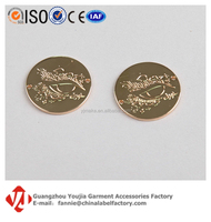 Brand Logo Engraved Stamping Hardware Label Metal Jewelry Tag