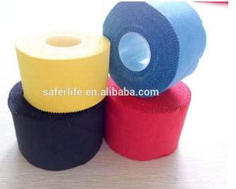 CE apporved wholesale top sell colorful cotton rigid tape for sport zinc oxide tape