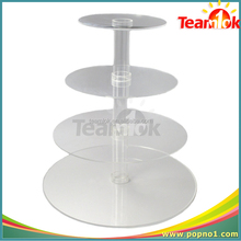 round shape acrylic cake display stand