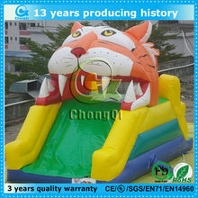 cute tiger inflatable stair slide toys/inflatable slide price
