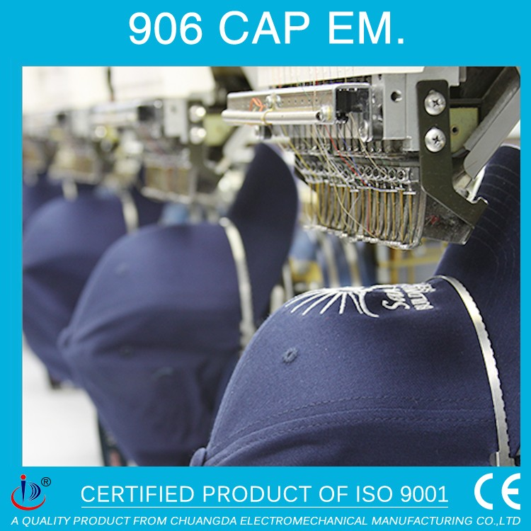 906 6 HEAD HAT EMBROIDERY MACHINE FOR BASEBALL CAP