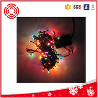 Cheap rice bulbs green cable Christmas lights garland/promotion mini Christmas lights