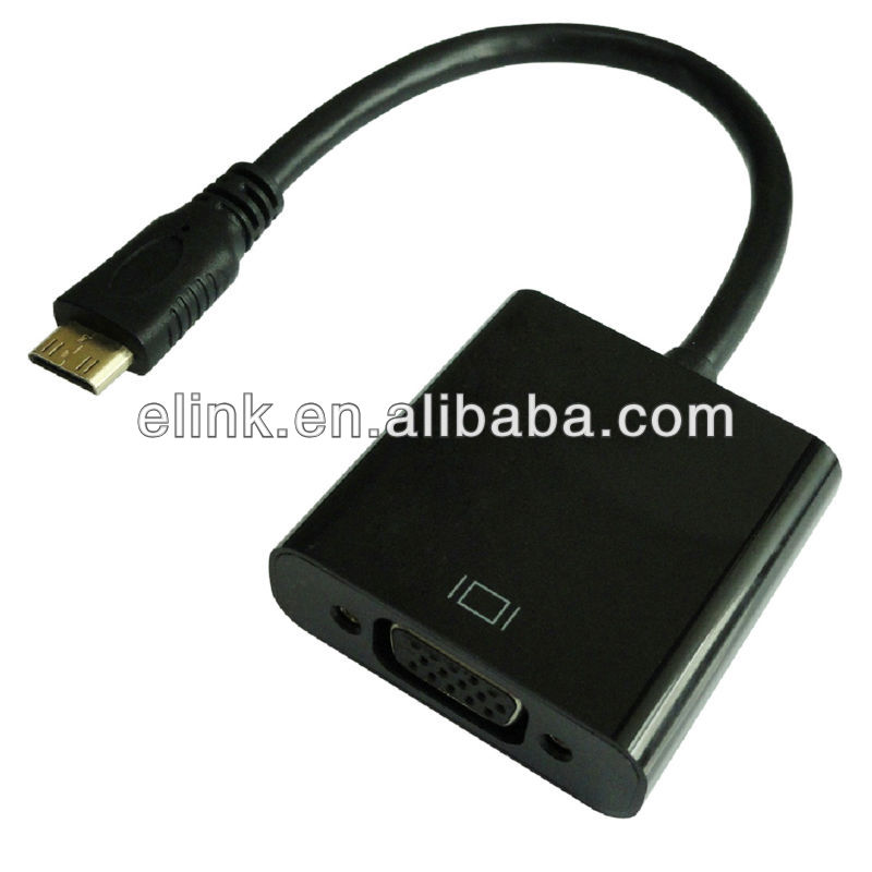 Mini HDMI male to VGA female Cable Adapter with Audio