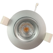 Gyro dimmable 7w 9w cob led downlight warm white 83mm cut for Norge market