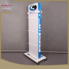 Custom wholesales mobile portable floor display stand for accessories