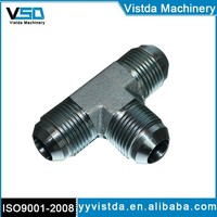 2603 SAE Hydraulic 37 degree Jic fittings& adapters with carbon steel /male tee fitting