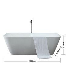 K43 New arrival fashionable streamline artificial stone upc bathtub 1 person hot tub