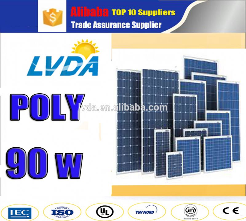 poly 90w solar panel/poly solar panel 90w water cooled