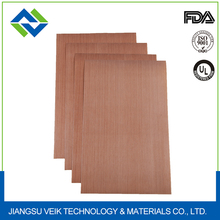 0.18 MM thickness Brown ptfe coated glass fabric EASY CLEAN for packing machine