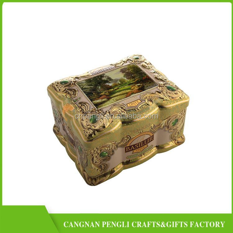 Factory Sale excellent quality herb tea metal tin box wholesale from China