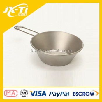325ml Ultralight Titanium Material Bowl for Outdoor Camping Equipment Survival Tool