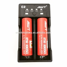 2018 New AWT C2 2A battery charger 18650 20700 21700 disposable charger rechargeable battery with USB dna 10w for sale