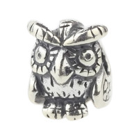 Wholesale Authentic 925 Sterling Silver Wise Old Owl Charm