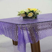 Crystal Table Cloth -----3D EVA table cover of Household Advisable Choice/PVC Printed Tablecovers With Flannel Backing
