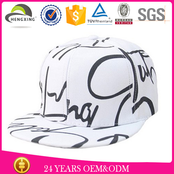 Men Fashion Graffiti Hiphop Street Hat Custom Snpback Hat Outdoor Hat