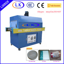Shrink plastic film wrapping packing box machine