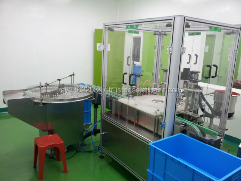 Liquid Filling, capping and sealing machine; Eyedrop liquid filling & capping machine