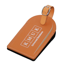 Luxury Print Box Package Leather Baggage Tag High Grade Attractive Hot Silver Stamping Custom Luggage Tag PU