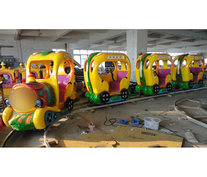 Popular amusement park mini electric train playground set for adults train for kids to ride