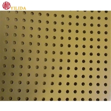 hot selling copper building materail perforated sheet metal panel for decorative