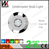 marine 316L round cheap fishing boats accessories customized underwater led pool light wireless