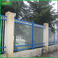 powder coated anping factory price zinc steel fence with low price