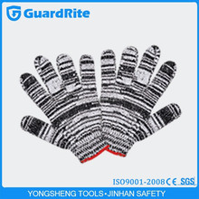 GuardRite brand 25cm skin color safety cotton cloth working gloves made in china