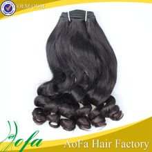Beauty hair 100% virgin human hair fumi hair egg curl russian