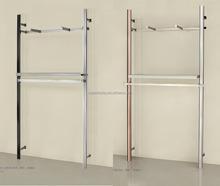 new design showroom wall display equipment metal rack display for clothing