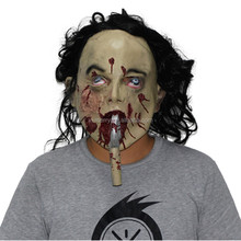 X-MERRY TOY Halloween Female Robot Latex Masks Props The Movie Women Face Ghost Mask With Long Tongue