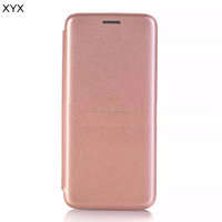 Hot selling ultra slim strong magnet mobile phone shell pu leather flip case for iphone 8