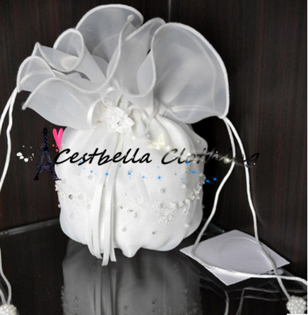 Fashion Chic White Mini Wedding Handbags Mini Bridal Handbags