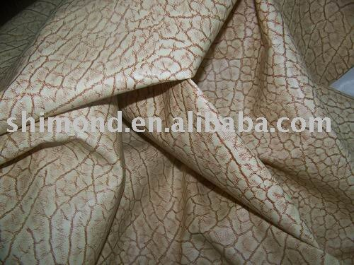 Septaria Pattern PVC Synthetic Leather, Emboss PVC Leather For Sofa Chairs