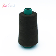 embroidery thread manufacturer <strong>100</strong>% spun polyester sewing thread silk thread cone