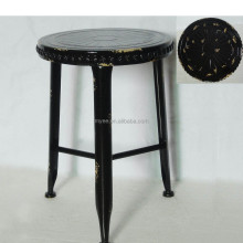 Metal cheap bubble black lacquer dining room chair seat