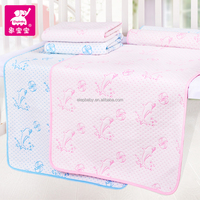 china alibaba organic 100% cotton 3D water-proof and free breathing baby diaper changing pad liner