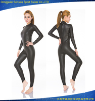 HOTSALE plus size women sexy semi-dry plain black triathlon wetsuits