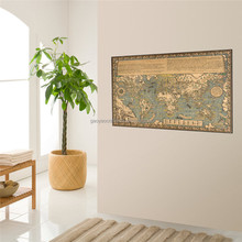 Large retro World Map Kraft Paper Paint vintage Wall Sticker Poster Living Room Art Crafts Maps bar cafe Pub wallpaper