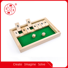 Christmas wooden hot selling wooden shut the box board wooden games