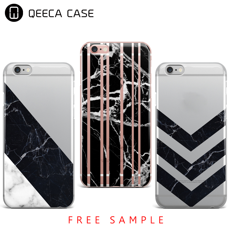Transparent Black Marble Phone Case For iPhone 5 SE 6 6S 7 Plus Gel Case TPU