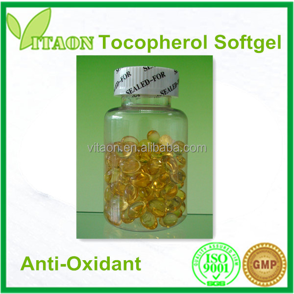 Mixed Tocopherol Vitamin E softgel Capsule and OEM Private Label for Anti -Oxidant