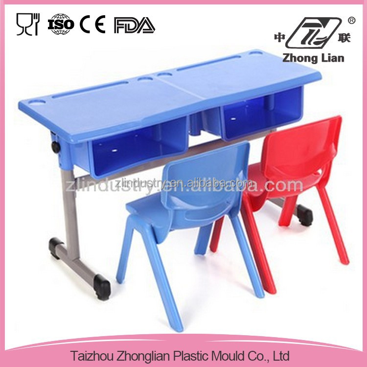 Manufacturer cheap colorful school chair with desk