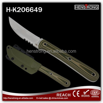 G10 handle 440A Steel Outdoor knife fix steel blade
