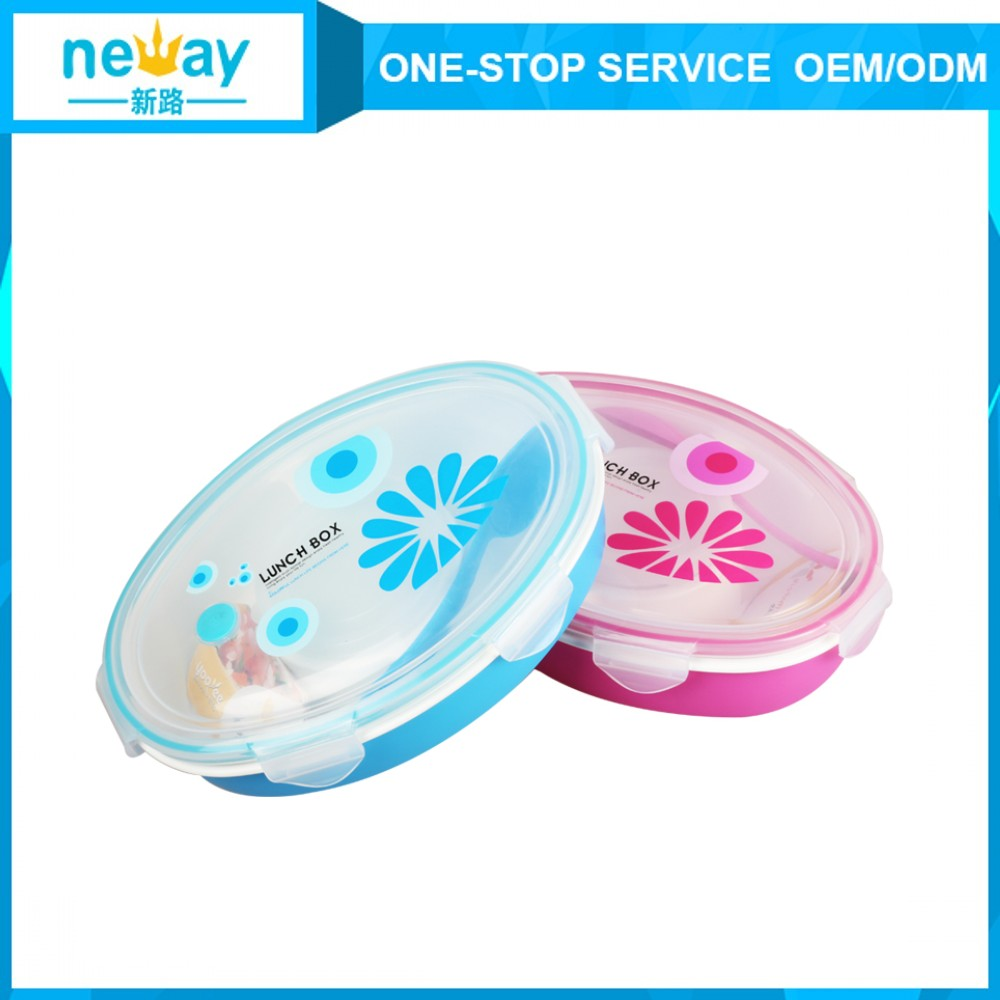 1000ml Small Clear Square Double Layer Plastic Food Packaging Idisposable Plastic Lunch Box For Kids
