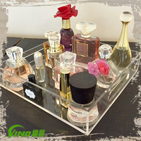 2015 Good Quality Clear Acrylic Tray , Storage Tray , lucite acrylic makeup organizer