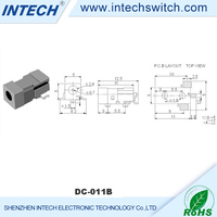 China connectors black 5000 cycles DC power jack jack connector sizes , mini jack for audio and radio