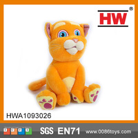 Lovely Plush Animal Toy Pat Cat Battery operated plush cat