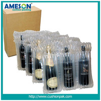 Low price Custom transparent plastic packing wine bottle protective air bag packaging