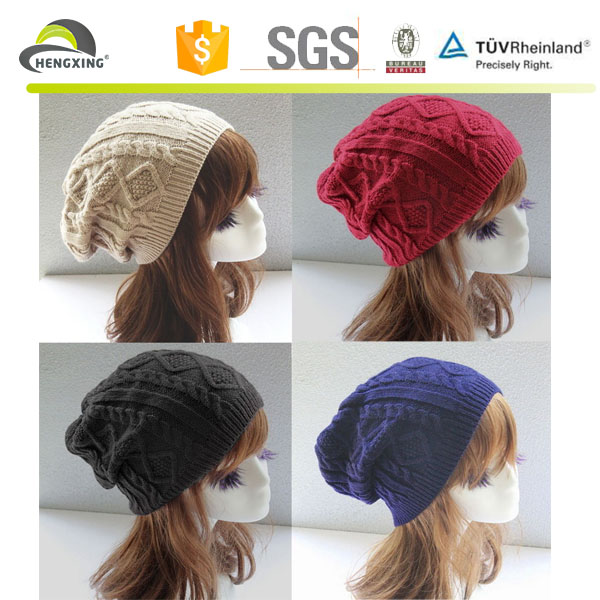 Fashion Womens Ladies Warm Winter Knit Crochet Ski Cap Beanie Hat